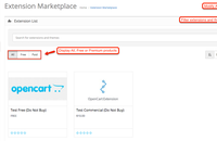 Admin panel-Extension marketplace