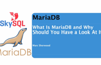 Short MariaDB Overview
